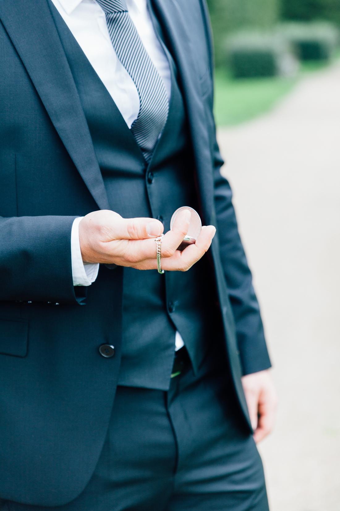 Bräutigam Anzug Taschenuhr Vintage