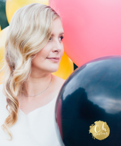 Hochzeit Planung Konzept Farben Ballons Kleid Liebe