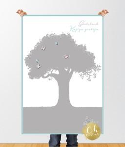Gaestebuch poster Schmetterling