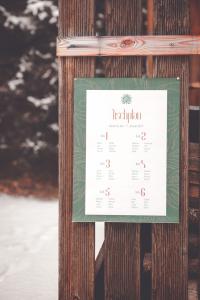 Winterhochzeit Schweiz Tischplan